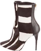 Balmain Ponyhair Ankle Boots