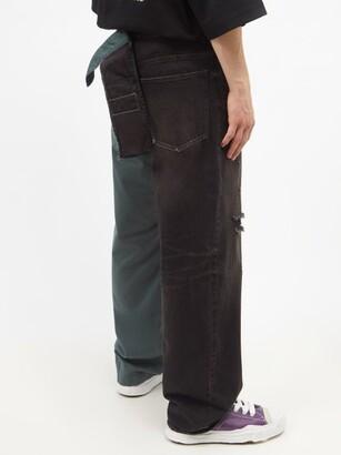 Miharayasuhiro Mihara Yasuhiro - Combined Straight-leg Cotton-twill Chino Jeans - Black