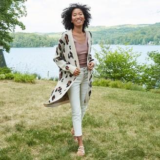 Knox Rose™ Women's Leopard Print Cardigan - Knox RoseTM Gray