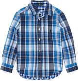 Ralph Lauren Double Cloth Reversible Plaid Button-Down Shirt, Size 5-7