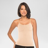 Annette Women's Silky Like Seamless Camisole with Double Inner Support