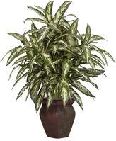 Asstd National Brand Nearly Natural Aglonema With Decorative Vase Silk Plant
