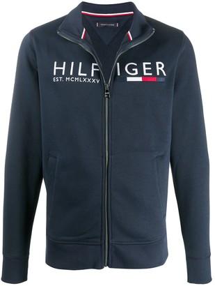 Tommy Hilfiger Logo Zip-Up Jumper