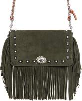 Coach Dinky Fringed Suede Chain Shoulder Bag
