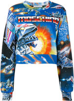 Moschino space print cropped sweater