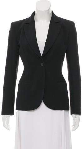 Chanel Notch-Lapel Button-Up Blazer