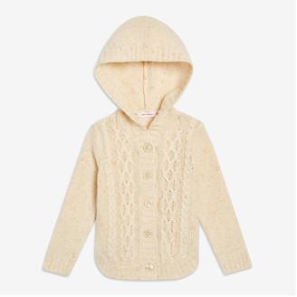 Joe Fresh Baby Girls' Cable Knit Cardi, Off White (Size 3-6)