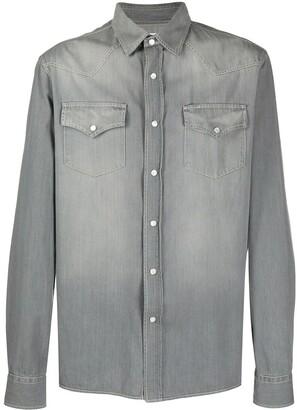 Brunello Cucinelli Bleached-Effect Denim Shirt