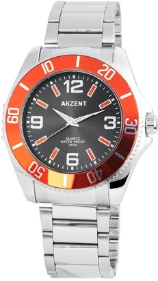 Akzent Unisex Adult Analogue Quartz Watch with Stainless Steel Strap SS7421500047