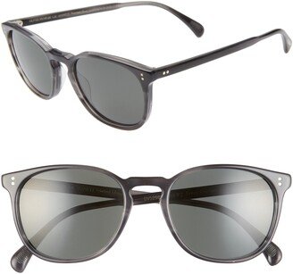 Oliver Peoples Finely 53mm Round Sunglasses