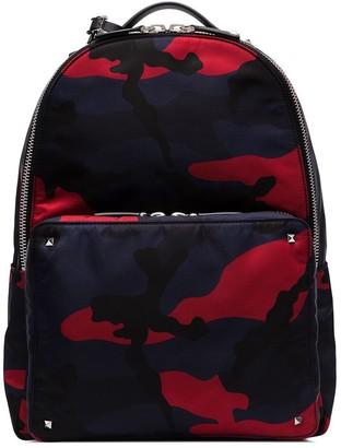 Valentino camo-print backpack