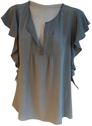 Calypso St. Barth Grey Silk Top for Women
