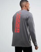 Under Armour Vertical Wm Long Sleeve T-shirt In Grey 1280978-090