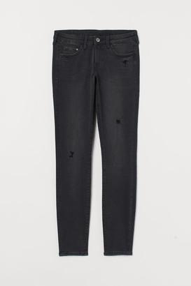 H&M Super Skinny Low Jeans - Black