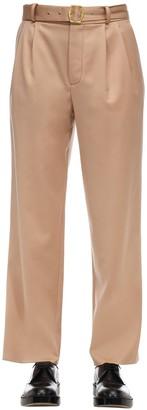 Sies Marjan Pressed Virgin Wool Pants W/ Belt