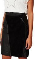 Mint Velvet Leather Zip Pencil Skirt