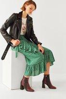 Urban Outfitters Ruth Ruffle Wrap Midi Skirt