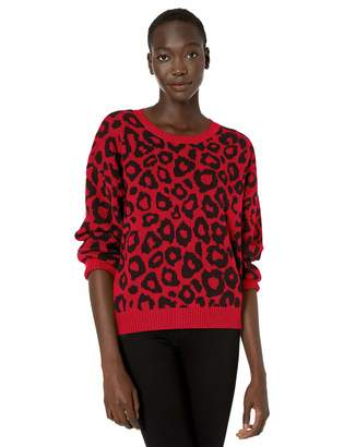 BCBGMAXAZRIA Women's Leopard Print Sweater