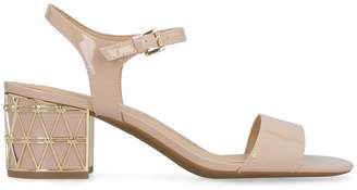 Michael Kors Embellished Heels Patent Leather Sandals