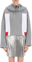 Paco Rabanne Women's Oversized-Hooded Cotton Sweatshirt-GREY