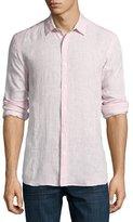 Orlebar Brown Morton Long-Sleeve Linen Tailored-Fit Shirt, Plum