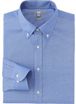 Uniqlo Men Easy Care Stretch Slim Fit Oxford Long Sleeve Shirt