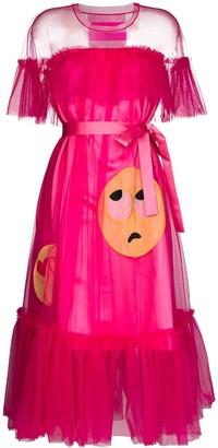 Viktor & Rolf Tulle Emoji Midi Dress