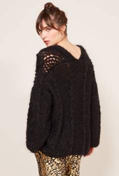 Mes Demoiselles Mohair Oversize Clarence Cardigan. CLARENCE - 1 | Winter Black
