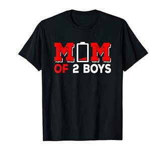 IDEA Mothers Day Son Mom of 2 Boys Funny Gift for men women T-Shirt