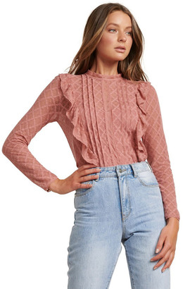 Forever New Bailey Pintuck Lace Shell Top