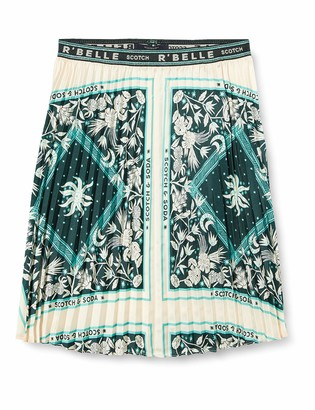 Scotch /& Soda Girls Mini Length Ruffle Skirt with Inner Shorts in Allover Print