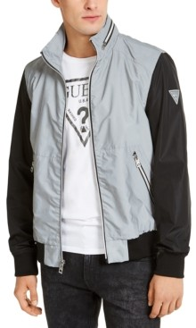 GUESS Men's Luis Colorblocked Reflective Jacket
