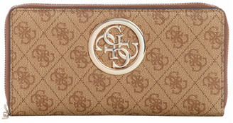 GUESS SG718663BRO Open Road Zip Around Wallet