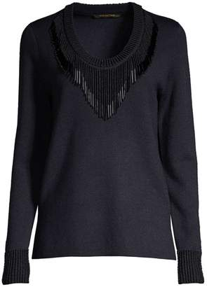 Kobi Halperin Delia Beaded Fringe Sweater