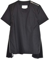 Sacai Cotton Poplin Pullover in Black