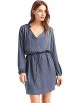 Gap Silky split-neck dress