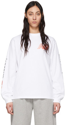 Aries White New Balance Edition Long Sleeve T-Shirt