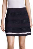 Alberta Ferretti Eyelet Mini Skirt
