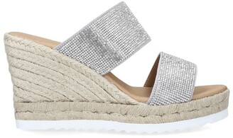 Carvela Embellished Klear Espadrille Wedge Sandals