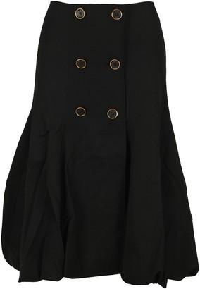 J.W.Anderson Buttoned Bubble-Hem Skirt