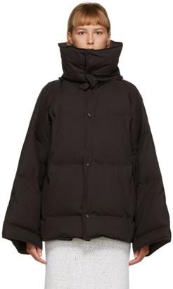 Bottega Veneta Brown Down Puffer Coat