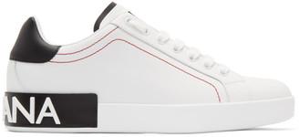 Dolce & Gabbana White and Black Portofino Sneakers