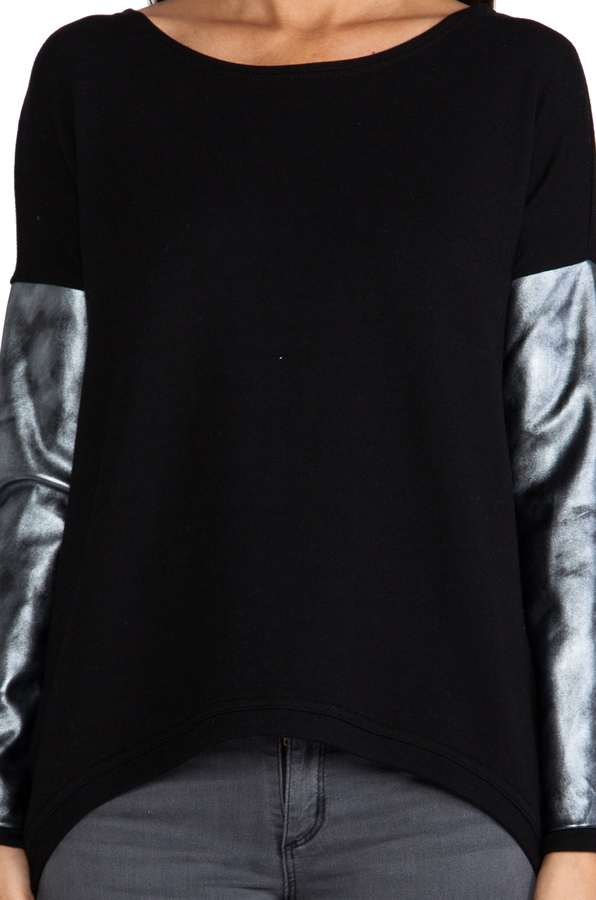 Generation Love Bobo Silver Leather Sweater