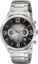 Akribos XXIV Men's AK607BK Ultimate Chronograph Dial Stainless Steel Bracelet Watch