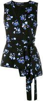 Proenza Schouler flower print wrap top - women - Silk/Spandex/Elastane/Viscose - 2