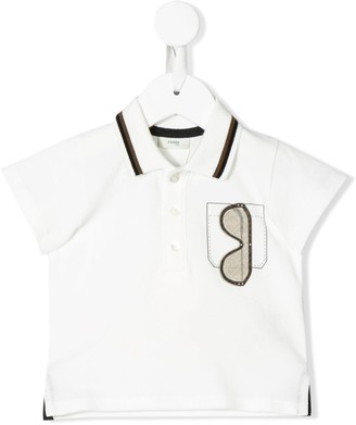 Fendi Kids Sunglasses Patch Polo Shirt