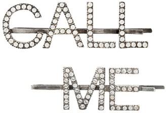 Saint Laurent Embellished hair clips