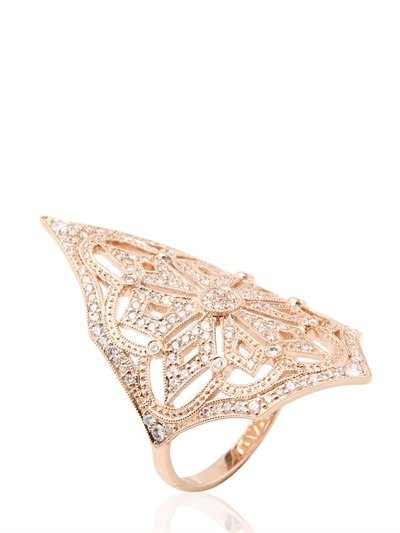 Lilith Rose Gold And Diamonds Ring