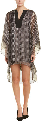 Halston Kaftan Cape Printed Shift Dress