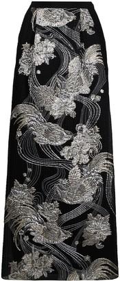 Alberta Ferretti Metallized Jacquard Maxi Skirt